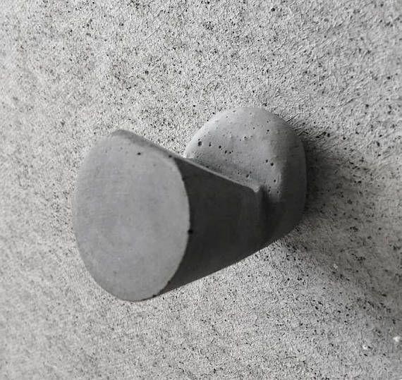 Concrete Wall Hooks Modern Concrete Hook Concrete Wall Etsy In 2020 Concrete Wall Wall Hanger Wall Hooks