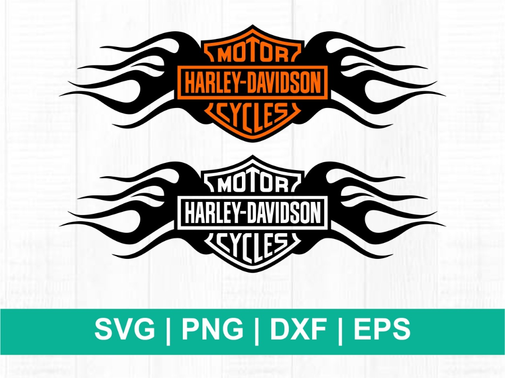 Harley Davidson Logo Svg Fire Vectorency Di 2020