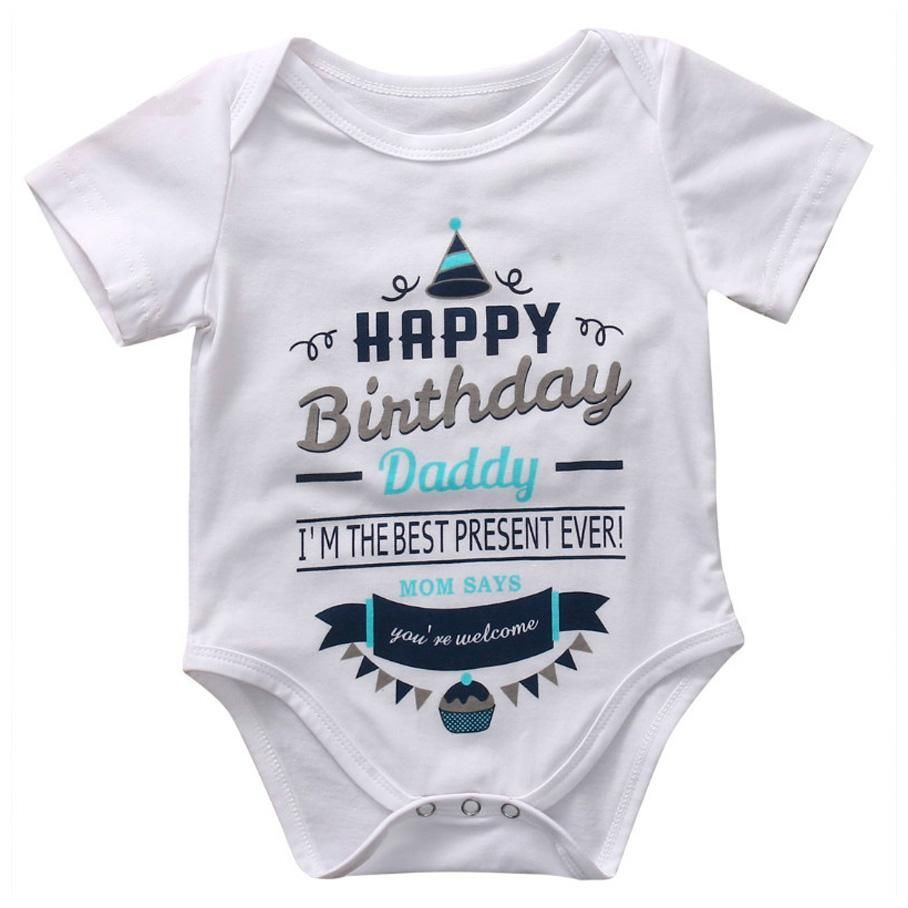 Baby Girl Boy Romper Bodysuit Happy Father/'s Day Jumpsuit Clothes Tops Romper