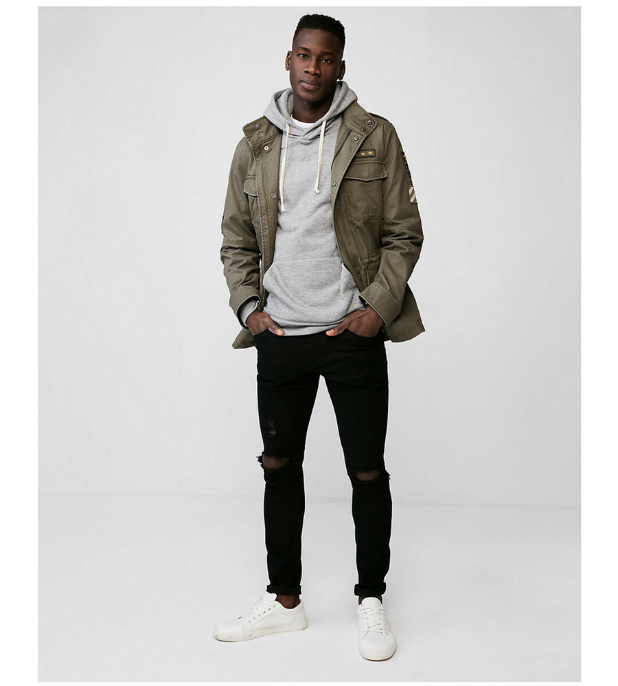 military patch jacket #Men Fashion #Jacket #Style #Casual #Fashion #Military #Street Style