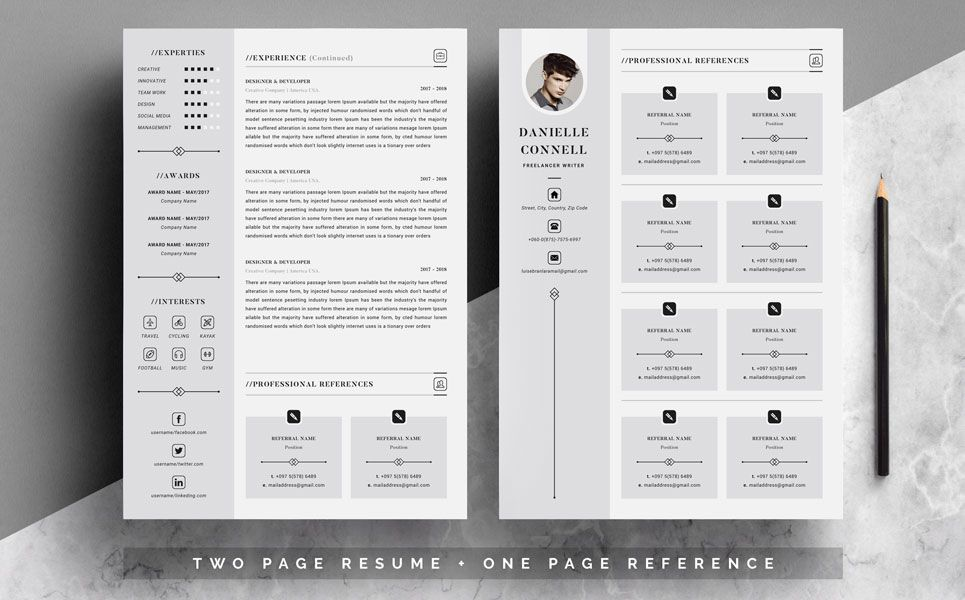 Danielle Connell 4 Pages Resume Template 79738 Cover