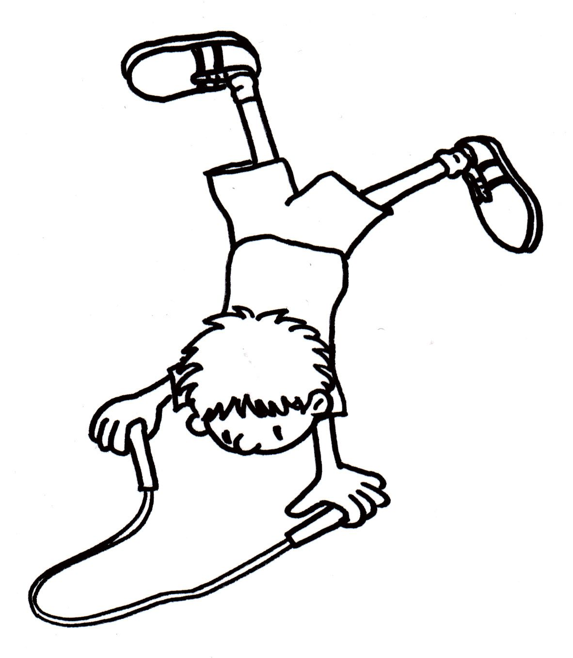 U Is For Upside Down Coloring Page