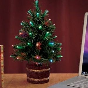 12 fiber optic usb christmas tree