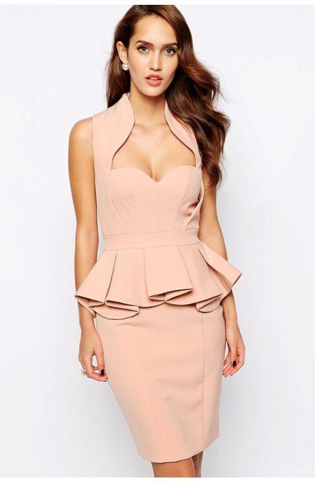 8c0fd9af06d9 Vestido Peplum escote corazón - Corsets online lenceria vestidos ...