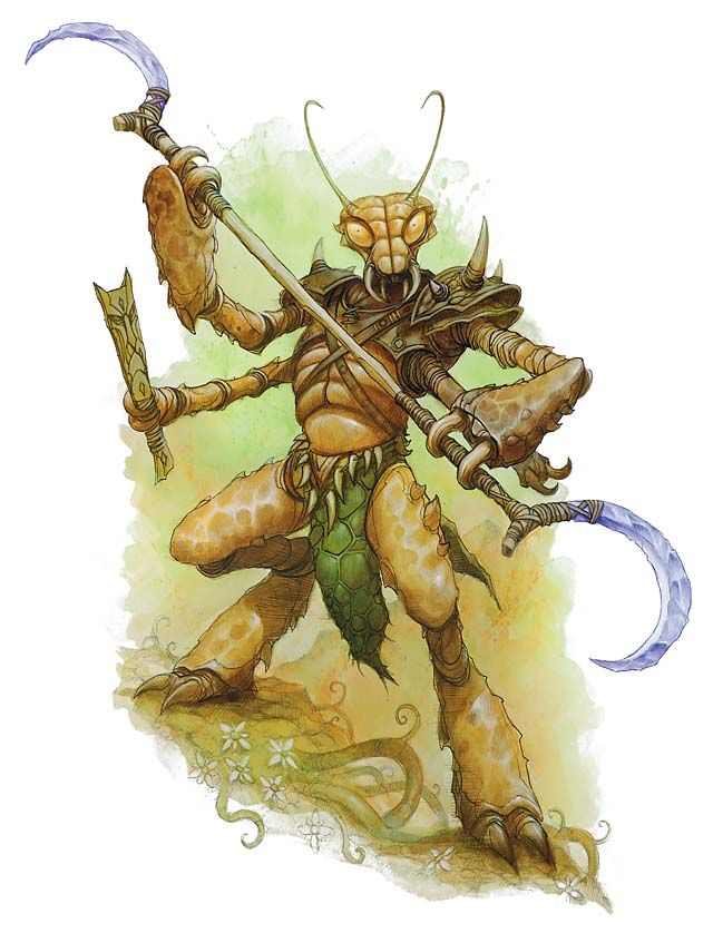 Thri Kreen Dark Sun Pinterest Fantasy Fantasy Characters And