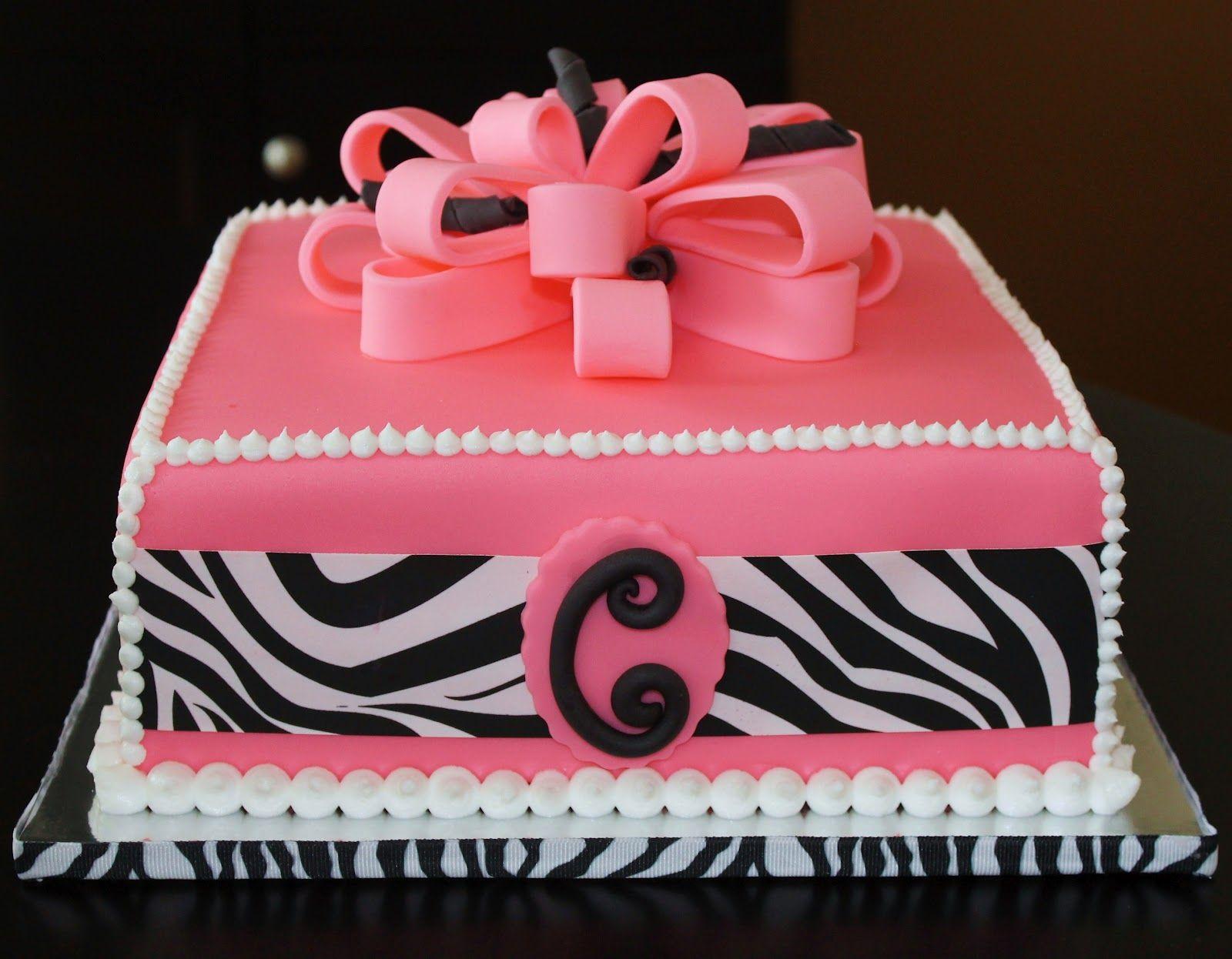 Beautiful pink/zebra print cake | Great Food ideas | Pinterest ...