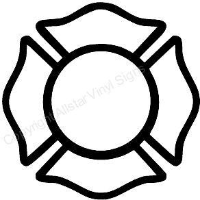 Firefighter Car Stickers Vinyl Window Decals For Firemen Maltese Cross Firefighter Firefighter Cross Maltese Cross