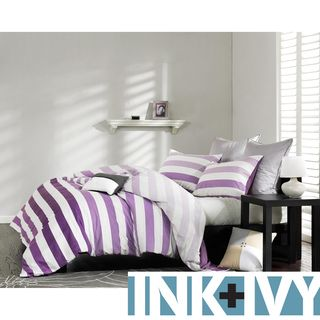 Ink and Ivy Peyton Purple 3-piece Mini Duvet Cover Set...idea for Hopes room