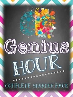 Genius Hour Package- comes with everything you need to bring Genius Hour or Passion Projects to your classroom!