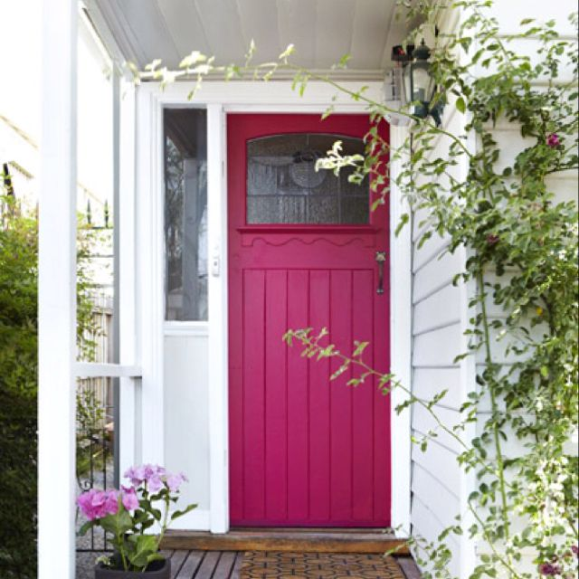 Pink Front Door Don T Know What My Husband Would Say But It Make Me Hy To Come Home Everyday