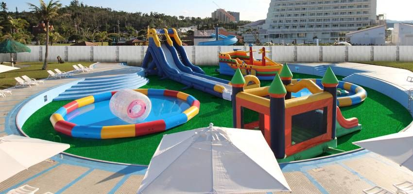 Garden Pool Closure & New Waterpark Opening Notice Okinawa ...