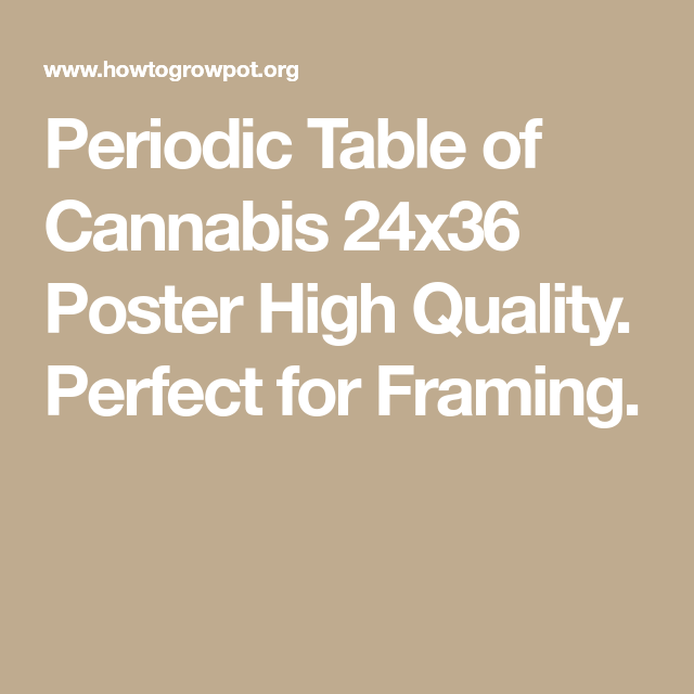 Periodic Table Of Cannabis Poster Periodic Table And Cannabis