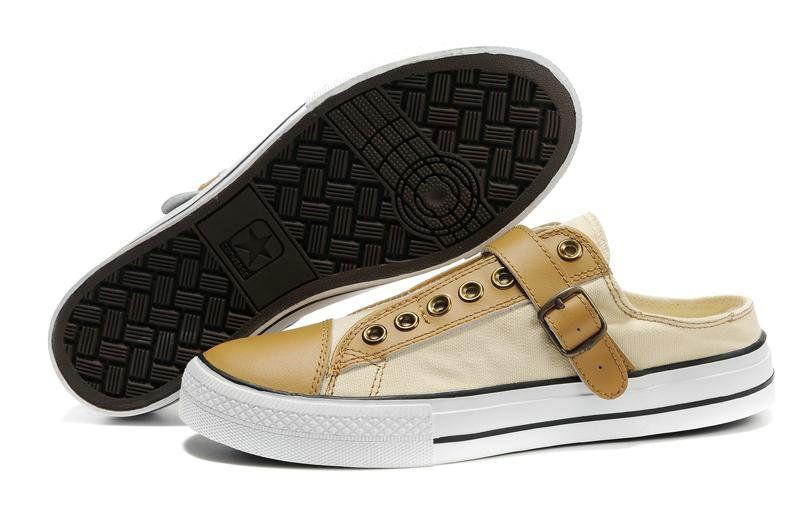 bb595845 converse all star low half slipper beige