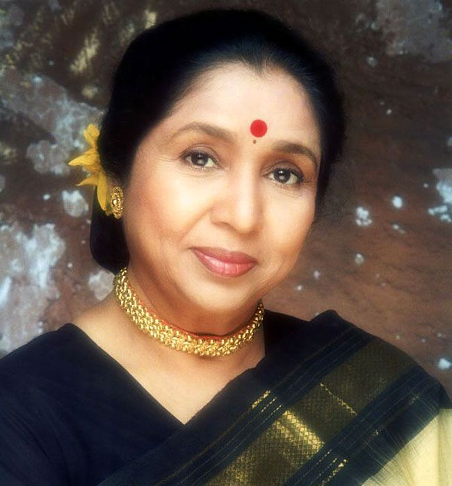 The great Indian singer Asha Bhosle. Renowned for her ...