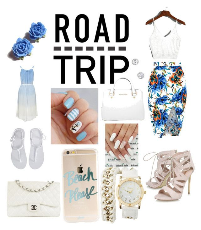"""""""TWO DAY ROAD TRIP"""" by chassymartin on Polyvore featuring New Look, Carvela, Aéropostale, Chanel, Michael Kors, Charlotte Russe, Tarina Tarantino and roadtrip"""