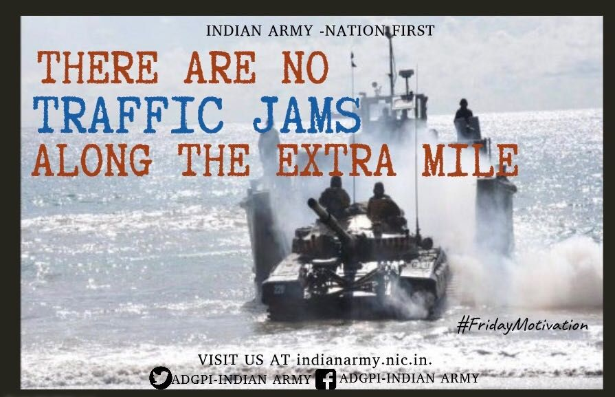Adg Pi Indian Army On Twitter Indian Army Friday Motivation Army