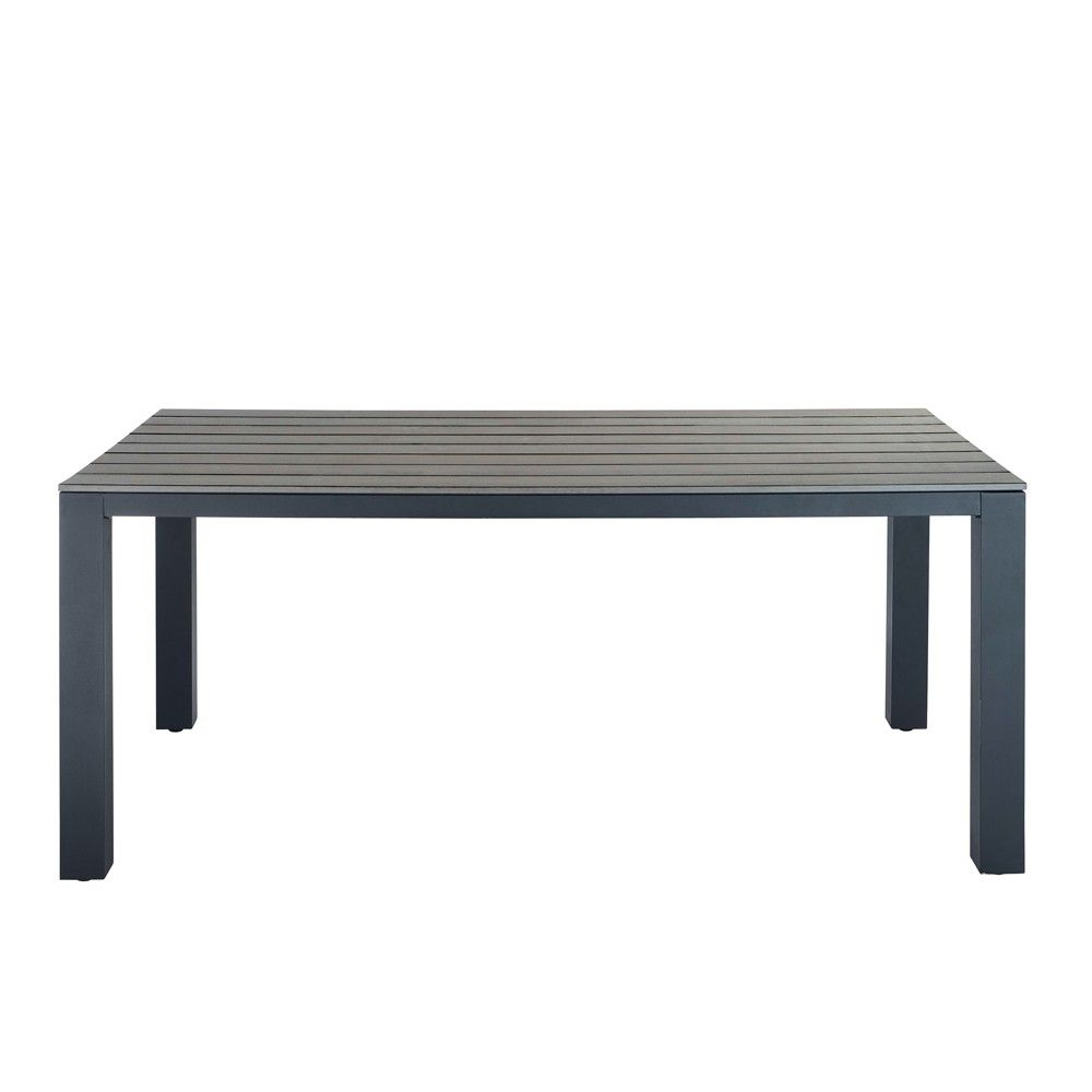 Table de jardin en aluminium gris | le jardin | Table de ...
