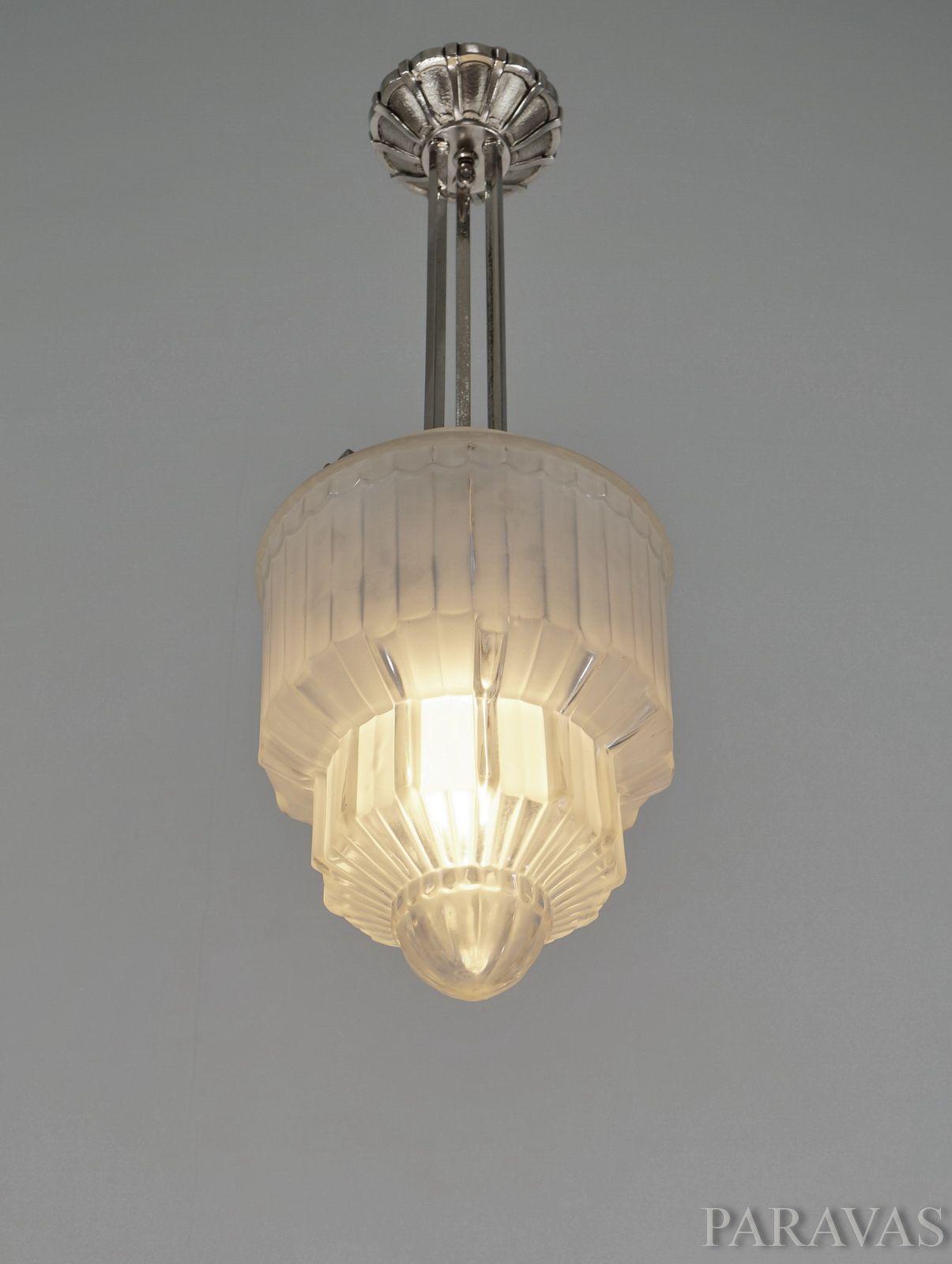 Lorrain daum french art deco chandelier a beautiful 1925 30 lorrain daum french art deco chandelier a beautiful 1925 30 pendant light arubaitofo Images