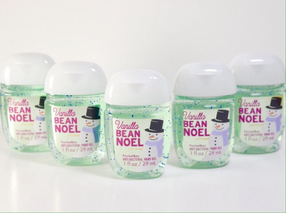 5 Bath And Body Works Vanilla Bean Noel Pocketbac Hand Gel