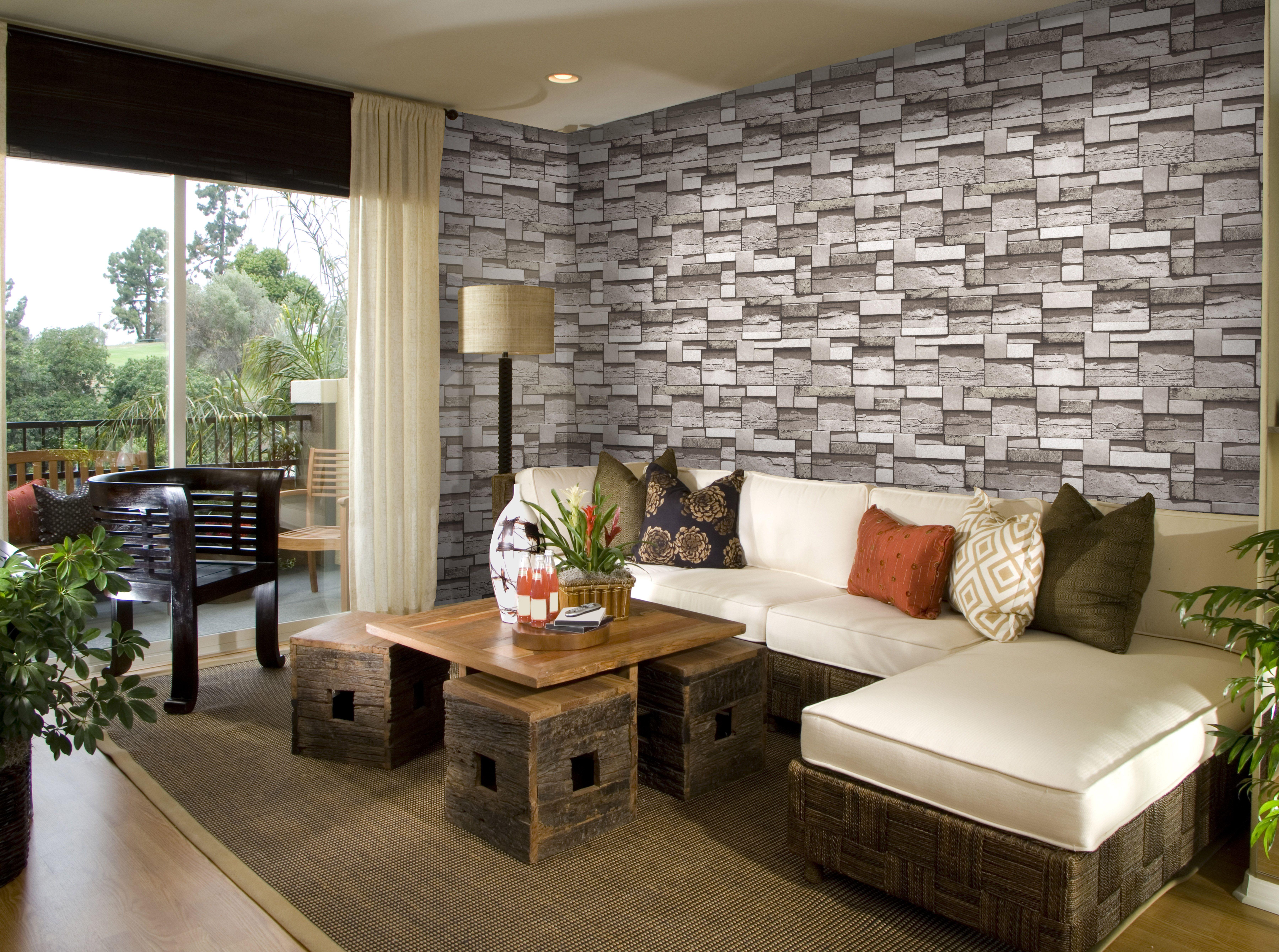brick design interior decoration 3d wallpaper for bedroom | 3d