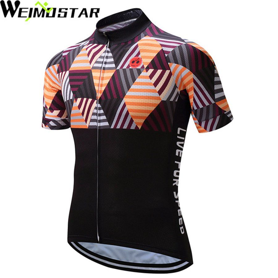 WEIMOSTAR Men Cycling Jersey Short Sleeve Cycling Clothing Summer Riding  MTB Wear Bike Top Maillot Ciclismo f14e7d7c6