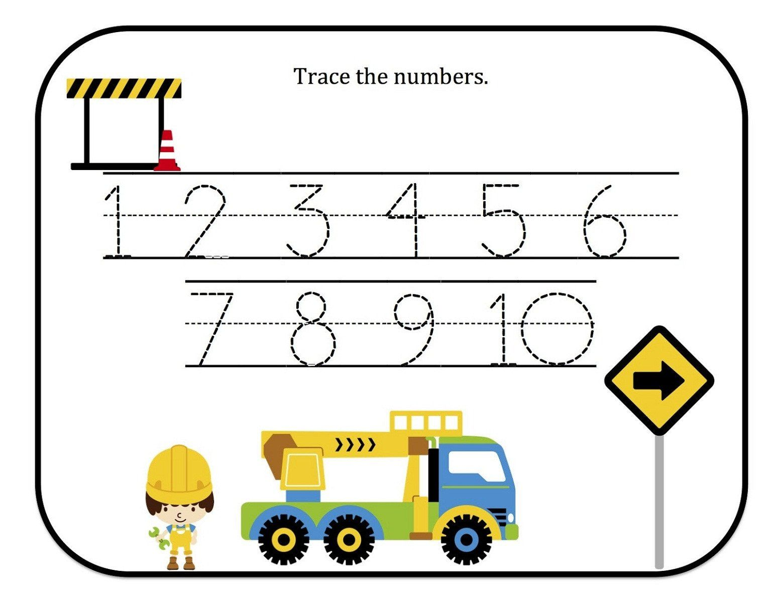 Number Tracing Worksheet 1 10 Tracing Numbers 1 10 Free