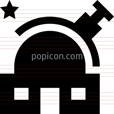 Observatory Astronomy Telescope Vector Icon Astronomy Science Icons Icon