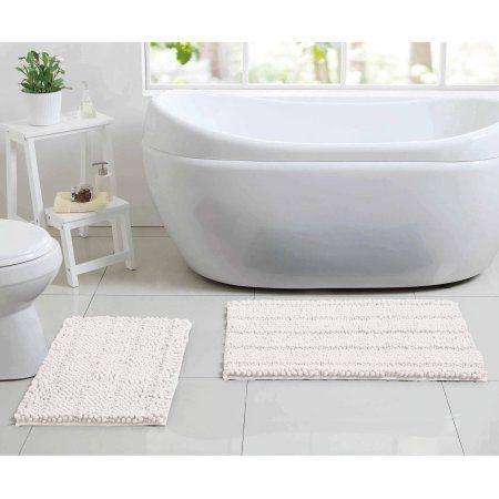 Better Homes And Gardens Noodle 2 Piece Bath Rug Set White Rug