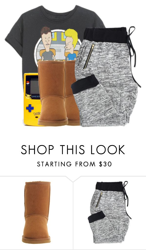 """""""hoodnight:)"""" by kittensnamedmittenandsocks ❤ liked on Polyvore featuring UGG Australia"""