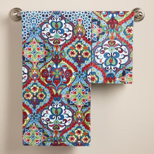 Morrocan Bath Towels From World Market I Must Have Them For The Gorgeous Patterned Bath Towels