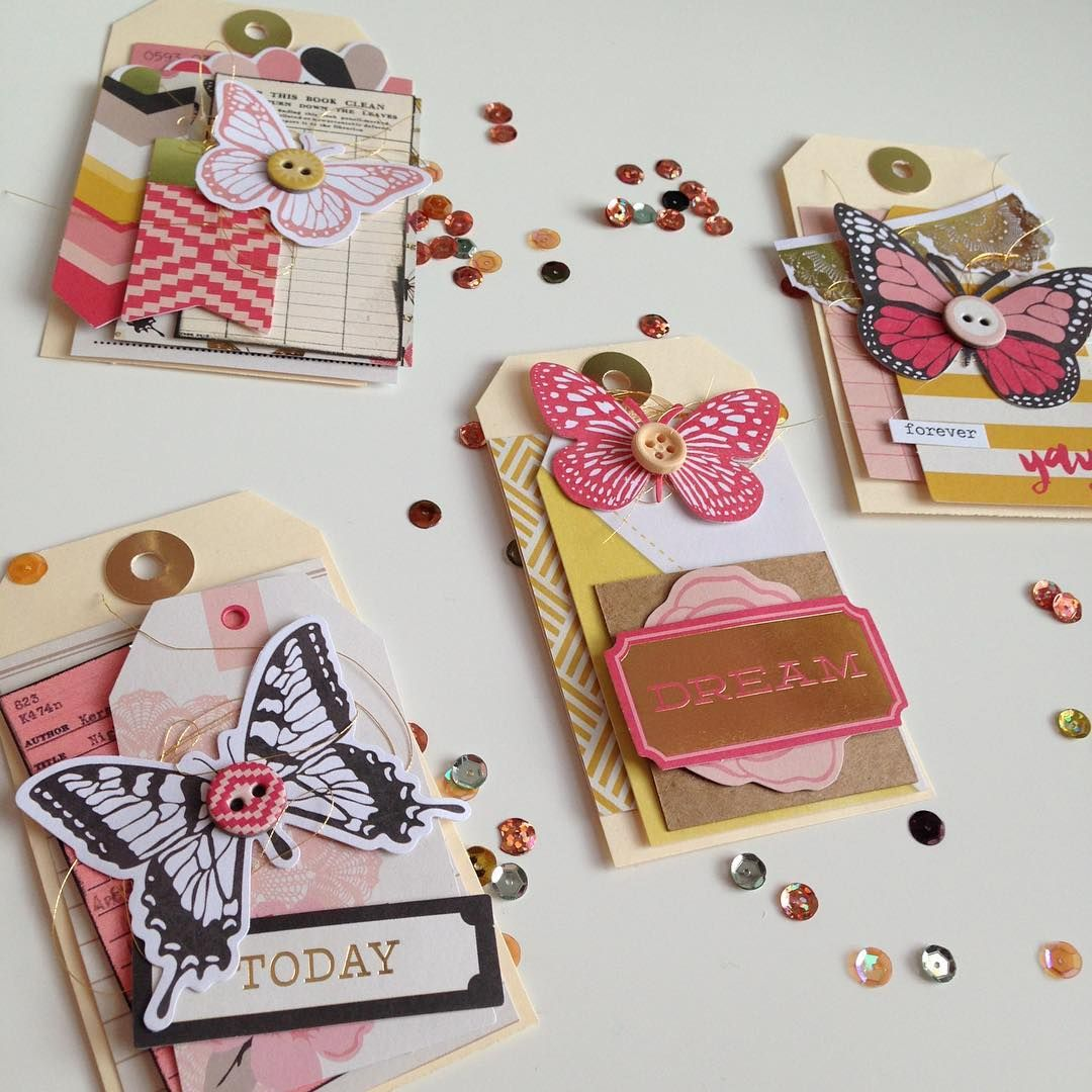 Layered Tags Video Will Be Uploaded Later Today Link In Bio Madewithmichaels Cutestuff Y Scrapbook Embellishments Diy Handmade Tags Card Embellishments
