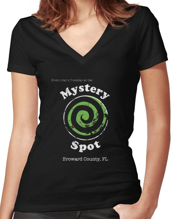 4d1fcc2732f Welcome to the Mystery Spot. | Fitted V-Neck T-Shirt | Products | V ...