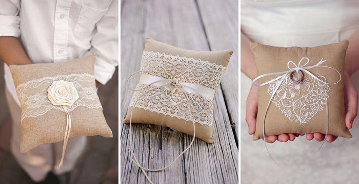Оформление подушечки для колец своими руками