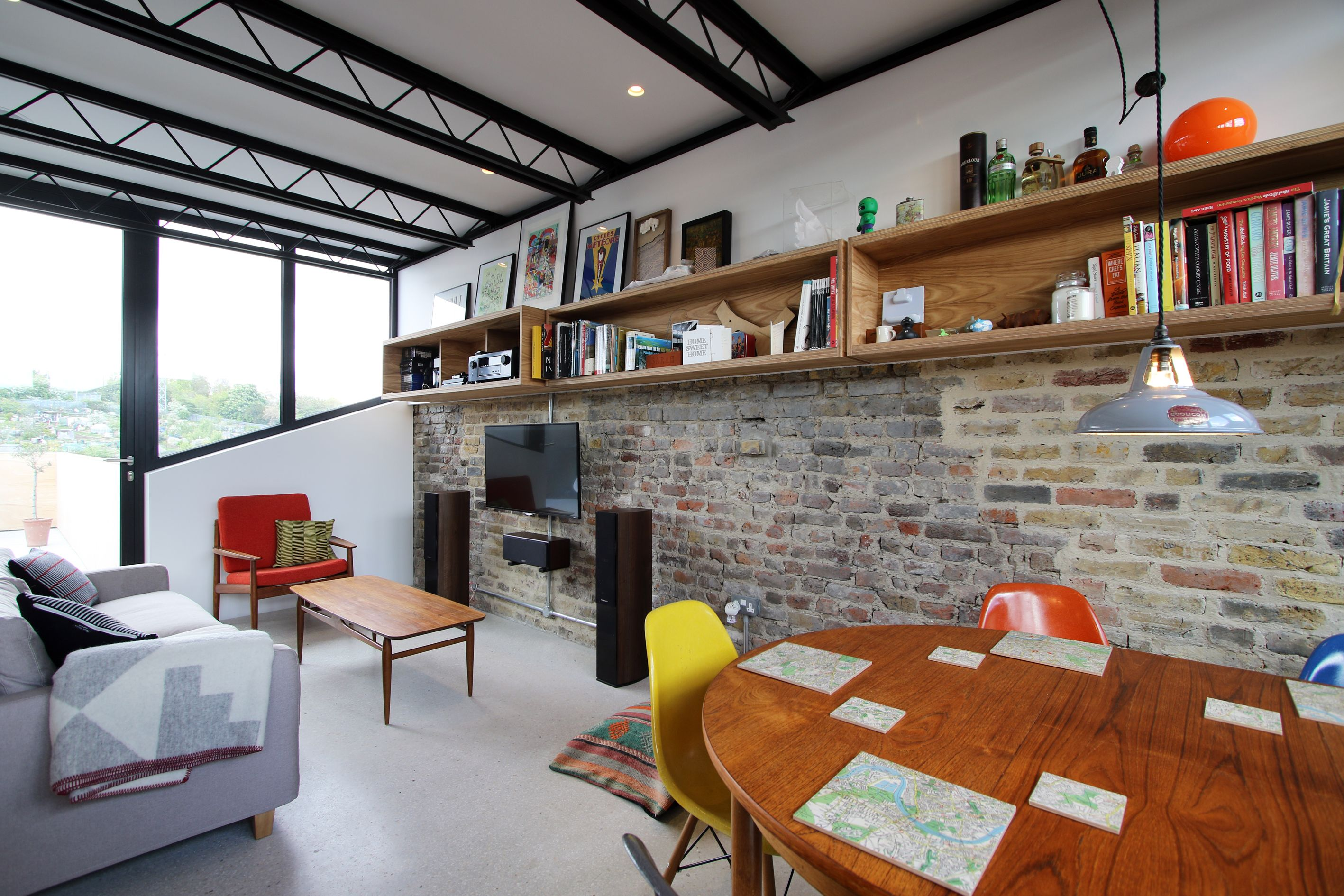 Stuart Road Se15, New Build House Exposed Brick Wall Kitchen