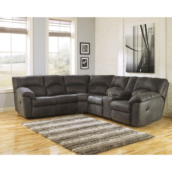 Gray 2 Piece Pewter Reclining Sectional - Tambo Reclining