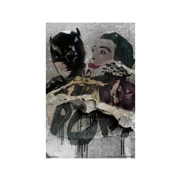 batman 60 s classic graffiti poster 6 99 a liked on polyvore featuring home