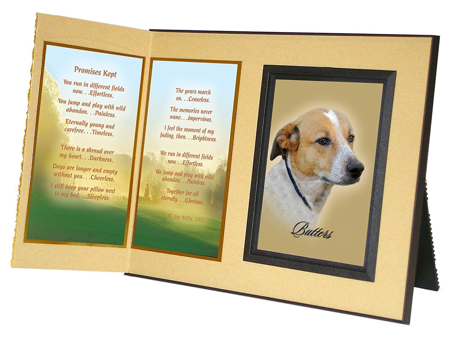 Promises kept memorial picture frame and pet loss