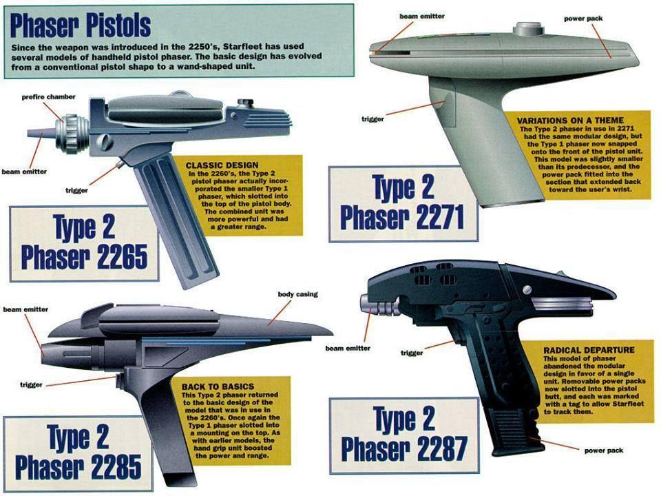 New Star Trek Beyond Hand Held Phaser Weapon Toy Gun Costume Accessory