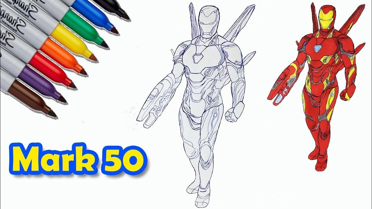 10 Iron Man Mark 50 Coloring Page Coloriage Coloriage Gratuit Iron Man