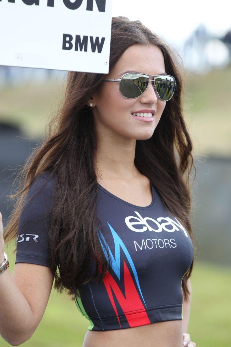 Grid girl for Colin Turkington (GBR) eBay Motors BMW 125i M Sport ...