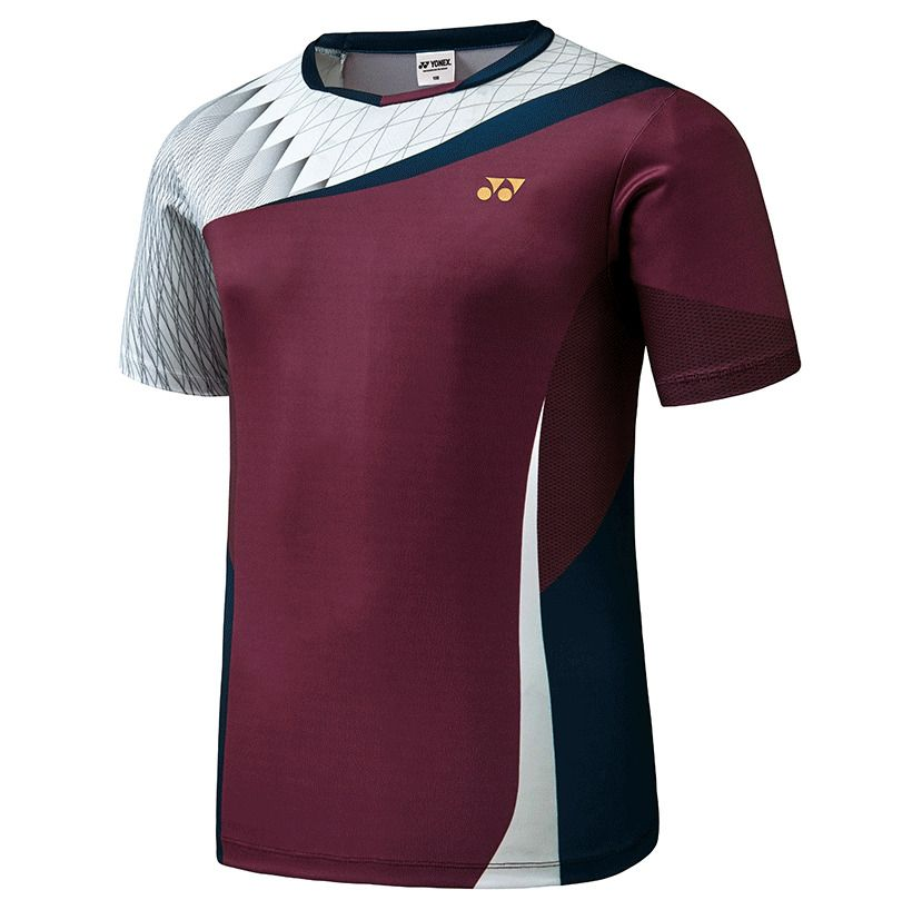 723ba4b9b6 Yonex F/W Collection Men's Badminton Round T-Shirts Red Clothes NWT  73TS003M #