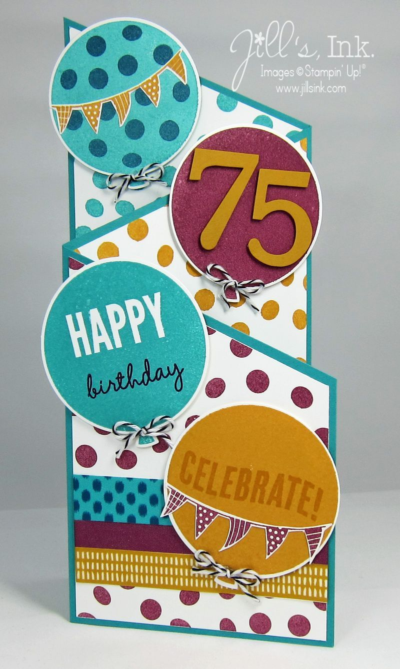 Celebrate Today 75th Birthday Card 003