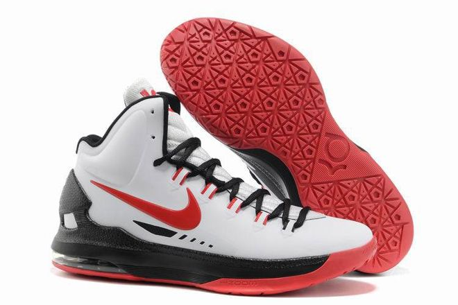 New Mens KD 5 V ID Sports Shoes (White & Black) Nike Kevin Durant