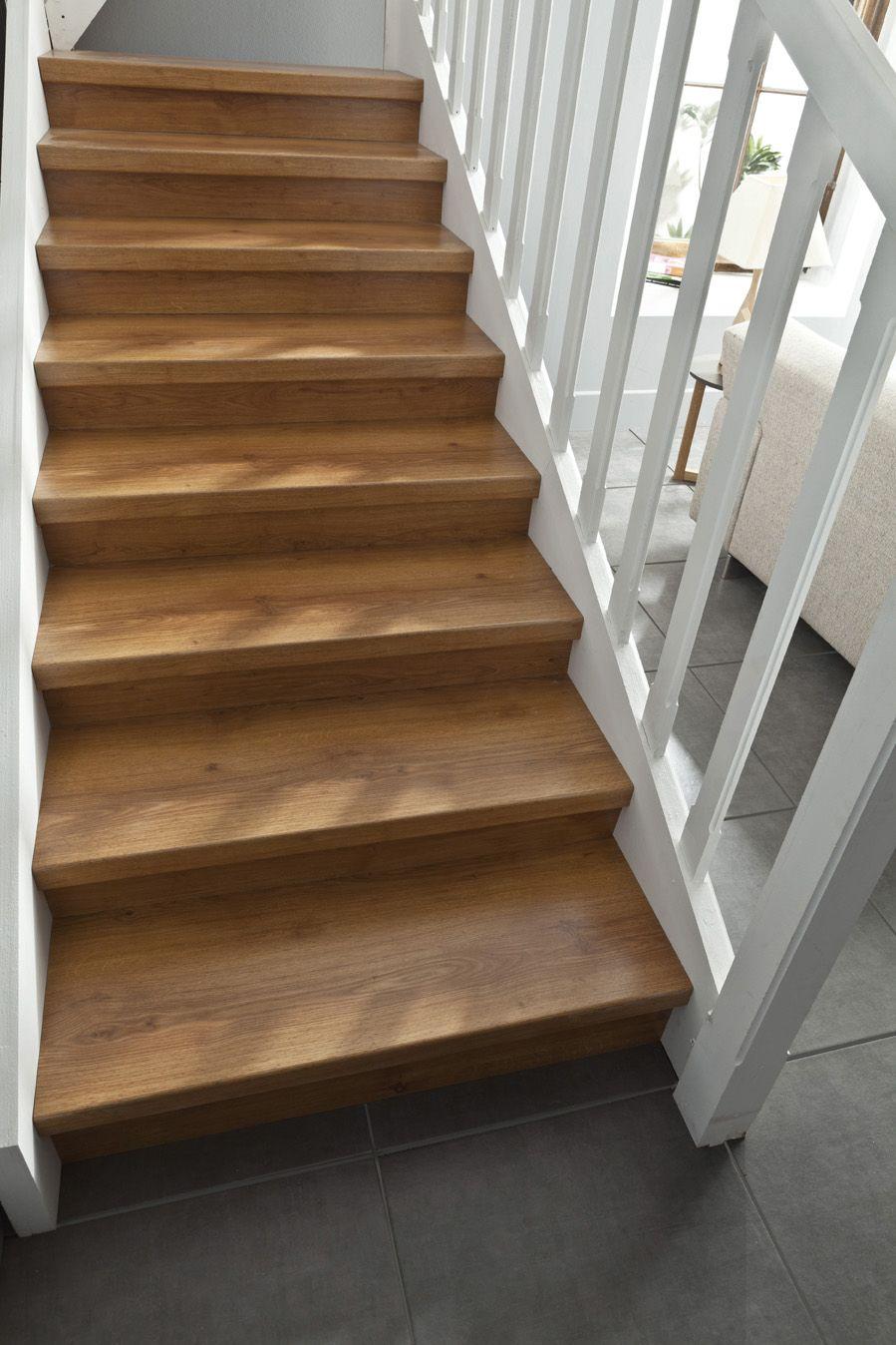 Kit De Renovation Escalier Stratifie Chene Saint Maclou Escalier Escalier Stratifie Saint Maclou