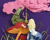 Alice Meets Caterpillar-8inx10in Giclee Print. $30.00, via Etsy.