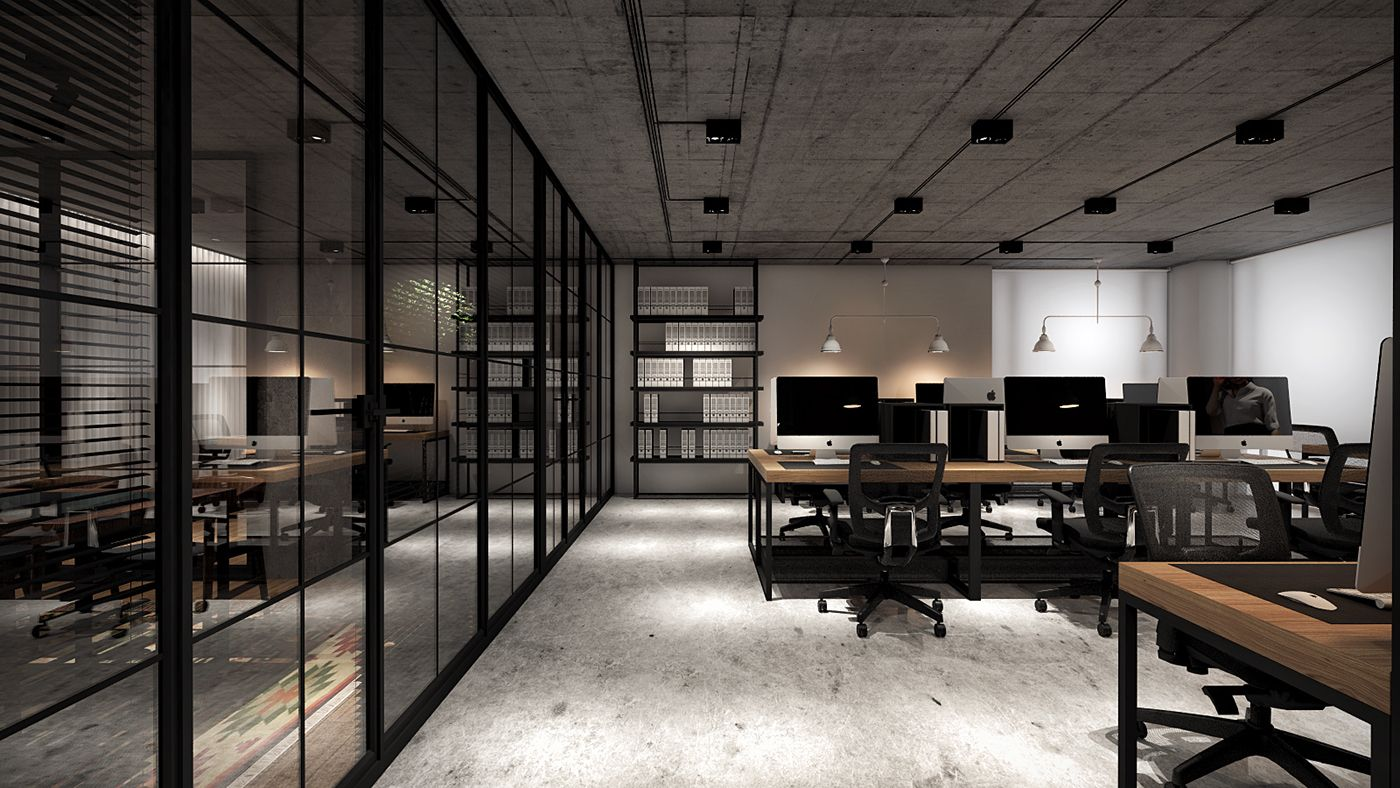Office For Engineering Firm On Behance Modern Office Space