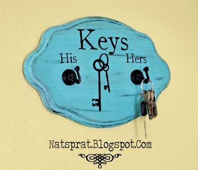 DIY key holder :D See the wonder of where are my keys every morning when you are running a few minutes late already!