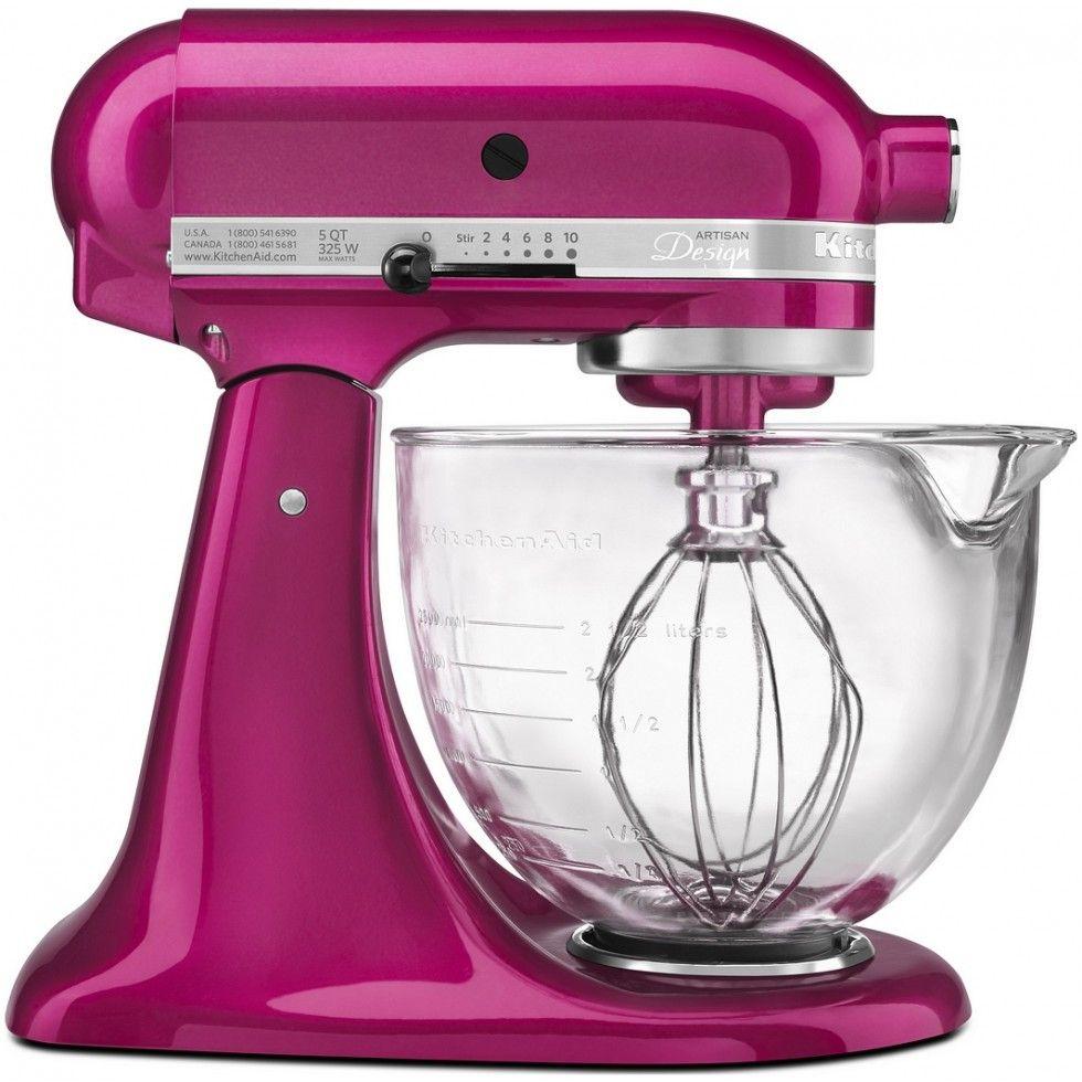 KitchenAid 5Qt Designer Mixer-Raspberry Ice 10th Anniversary - Cook ...