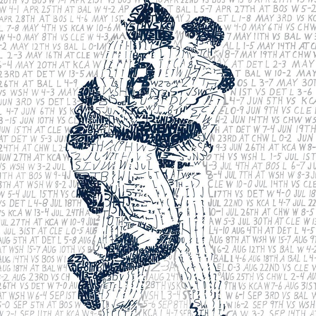 1956 New York Yankees World Series Art Word Art Art Prints