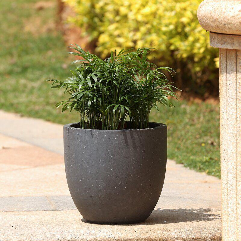 Adamell round fiberclay pot planter planters garden